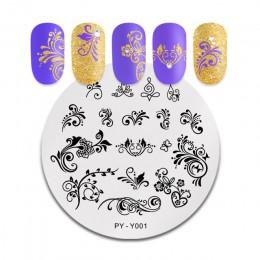 PICT You płytki do tłoczenia paznokci seria kwiatowa szablon szablon do tłoczenia ze stali nierdzewnej zdobienia paznokci pokryt