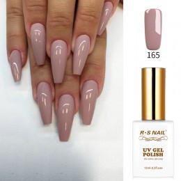 RS paznokci 15ml led uv lakier do paznokci żel kolorowy nude kolor nr 165 projekt paznokci żel lakier do manicure vernis semi pe