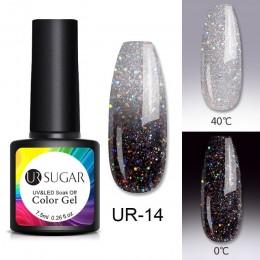 UR SUGAR 7.5ml żel termiczny zmieniający kolor lakier żelowy UV błyszczące cekiny Soak Off UV LED lakier do paznokci lakier do p