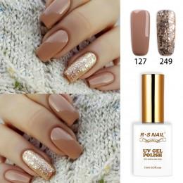 RS Nail 15ml uv żelowy lakier do paznokci led nr 127 + 249 lakier do paznokci projekt paznokci francuski manicure zalecany unhas