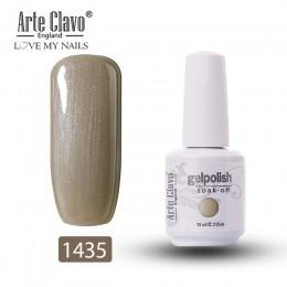 Arte Clavo Soak Off żel do paznokci uv 15ml szary ciemny kolor żelowy lakier do paznokci lakier lakier do paznokci Lak szczęście