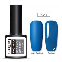 LEMOOC 8ml matowy warstwa wierzchnia kolor lakieru do paznokci żel UV szara seria Semi permanentny usuwanie żelu UV lakier DIY ż