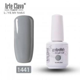 Arte Clavo żelowy lakier do paznokci 15ml usuwanie żelu uv lakier 244 kolorów Pure Color Manicure Nude różowy fioletowy szary la