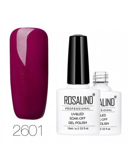 ROSALIND lakier do paznokci 10ml warstwa bazowa i wierzchnia czerwona i Nude seria kolorowa Art lakier żelowy led półtrwały laki