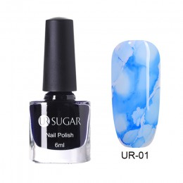 UR SUGAR 6ML akwarela lakier do paznokci kwitnący żel do paznokci do samodzielnego nakładania dekoracja Salon zestaw efekt dymu