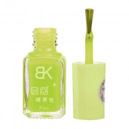 1 butelka Luminous fluorescencyjny neonowy lakier do paznokci blask w ciemności lakier do paznokci lakier do paznokci 7ml hybryd