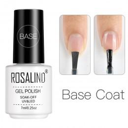ROSALIND mat warstwa wierzchnia żelowy lakier do paznokci UV LED Semi permanentny lakier do paznokci do paznokci artystyczny man