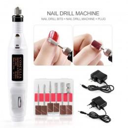 1 zestaw profesjonalny elektryczny pilnik do paznokci zestaw maszyn maszyna do Manicure do paznokci ołówek do makijażu Pedicure