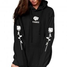 Ponadgabarytowe bluzy damskie wzorzysty wzór bluza Unisex Tumblr Hispter sweter jesień znosić moda Plus rozmiar