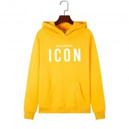 2019 Fashion ICON bluzy z kapturem z nadrukami kobiety bluza z kapturem z długim rękawem odzież ciepła bluza z kapturem płaszcz