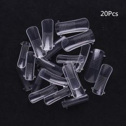 1 Box szybko budujący końcówki do paznokci podwójne formy żel przedłużający Nail Art UV Extend żel do przedłużania paznokci