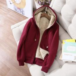 Jesień zima bluza kobiety Plus aksamitna ponadgabarytowych bluzy kurtka z długim rękawem bluza sportowa ciepłe damskie bluzy Z64