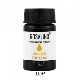 ROSALIND gumowa warstwa wierzchnia 15ml jakość paznokci Top i podstawa do lakieru żelowego Soak Off UV żelowy lakier do paznokci