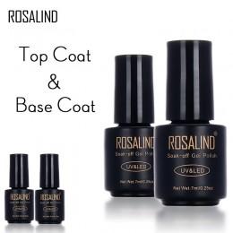 Rosalind 1 sztuk Nail Art 7 ml baza warstwa wierzchnia żelowa baza pod lakier do paznokci Manicure narzędzia Semi permanentny LE