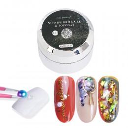 6ml klej do paznokci bez wycierania do Rhinestone 3D kryształy na paznokcie polski wystrój Manicure klej z brokatem Nails Primer