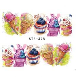 1 arkusze Nails naklejki artystyczne Manicure lato suwak lody pić owoce naklejki na paznokcie diy wystrój tatuaż TRSTZ478-486