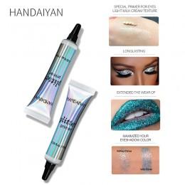 HANDAIYAN Makeup Glitter Primer długotrwały tusz do rzęs kolor specjalny podkład do oczu lekka śmietanka kosmetyki do tekstury T