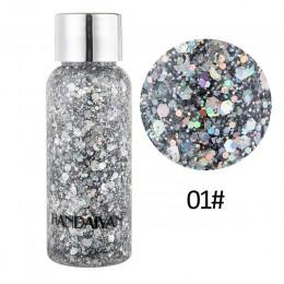 HANDAIYAN płynny brokat cienie cekiny na twarz ciało Shimmer błyszczy festiwal kosmetyki żel krystaliczny makijaż maquiagem TSLM