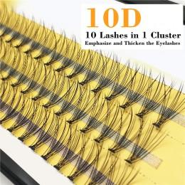 1box 0.07 10D sztuczne rzęsy C Curl sztuczne rzęsy z norek rozszerzenia 60 wiązki taśmy rzęsy pojedyncze rzęsy naturalny styl