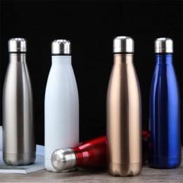 350/500/1000ml termos dwuścienny termos butelka wody ze stali nierdzewnej BPA Free Portable Sport termos próżniowy butelki
