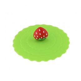 Śliczne owoce zdobią picie wody pokrywka na kubek FDA silikonowe przeciwpyłowe pokrywa misy kubek uszczelki szklane kubki Cap śr