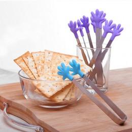 1pc przenośny kreatywny mały Palm silikonowy klips antypoślizgowe ze stali nierdzewnej Mini żywności Ice Square Suger zacisk do