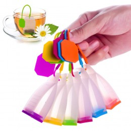 1 sztuk torba styl silikonowy do herbaty zaparzacze sitka do herbaty przyprawy ziołowe zaparzaczem filtry zapachowa kuchenna kaw