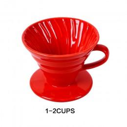 Ceramiczny kroplownik kawowy silnik V60 styl filtr do kawy filiżanka filtrowa stały wlać ekspres do kawy z oddzielnym stojakiem