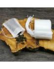 Torebki herbaty 100 sztuk/partia torby do parzenia herbaty 5.5X7 CM spożywczy worek filtracyjny do herbaty z String Heal Seal pu