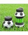 Nowość piłka nożna sporty wodne butelka ze słomką składany składany podróży silikonowy moje butelki innowacje Camping 550ml H122