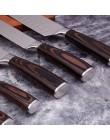 Mokithand 5 sztuk zestaw noży kuchennych profesjonalne japońskie noże szefa kuchni 7CR17 wysokiej węgla ze stali nierdzewnej mię