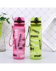 Nowe letnie Shaker sportowe butelki na wodę Drink Camping Tour zewnętrzna butelka do wody 600/1000ml plastikowe Tritan Drinkware