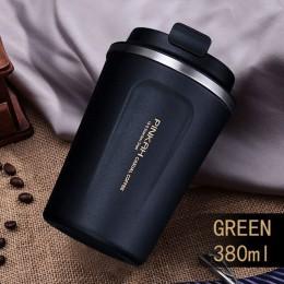 Gorąca sprzedaż 380 i 500ml 304 kubek termiczny ze stali nierdzewnej kubek podróżny do kawy z pokrywką kubek do samochodu termos