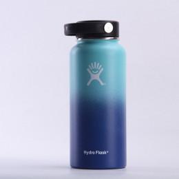 32 uncji/40 uncji Hydro butelka wody ze stali nierdzewnej butelka z izolacją próżniową szerokie usta podróży przenośne termiczne