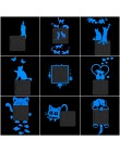 Naklejka na wyłącznik światła świecąca naklejka na ścianę naklejki Cartoon świecące w ciemności naklejka naklejka na dekoracja p