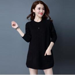 Luźne swetry dla kobiet 2019 wiosna jesień długa koszula swetry swetry zimowe Plus rozmiar 4XL dzianina damska odzież wierzchnia