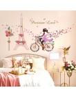 Romantyczny kwiatowy wróżka huśtawka naklejki ścienne dla dzieci dekoracja ścienna do pokoju sypialnia salon dzieci pokój dziewc