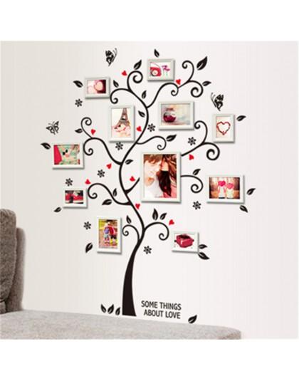 Ramka na zdjęcia Diy naklejki ścienne z motywem drzewa domu wystrój wnętrz sofa do salonu plakat w stylu vintage ścienne naklejk