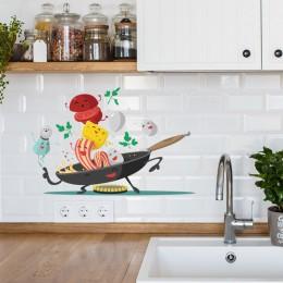 Cartoon Happy pan naklejka ścienna do kuchni na lodówka do kuchni szafka dekoracyjna naklejki ozdobne zdejmowane domowe naklejki