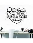 Hiszpański francuski cytaty zdania naklejki ścienne winylowe wymienny francja hiszpania tapeta Wall Art do salonu dekoracja sypi