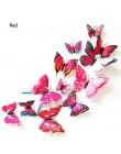 12 sztuk 3D dwuwarstwowa naklejka na ścianę z motylem na ścianie do wystroju domu DIY motyle magnesy na lodówkę dekoracja pokoju