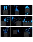 Niebieskie światło Luminous naklejka pod włącznik Home Decor Cartoon świecące naklejki ścienne ciemny blask naklejka dekoracyjna