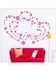 Świąteczna wyprzedaż 108 kwiatów i 6 motyli DIY zdejmowana naklejka na ścianę naklejka główna sypialnia salon/sala weselna dla d