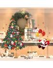 DIY świąteczna naklejka na ścianę salon Xmas mikołaj Snowman Elk naklejki witryna okienna dekoracja ze szkła plakat folie dekora