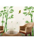 Wymienny zielony las bambusowy głębokości naklejki ścienne kreatywny chiński styl diy drzewo naklejki dekoracyjne do dekoracji s