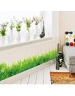 * 3D świeża zieleń trawa listwy pcv naklejki ścienne listwy dla dzieci salon sypialnia łazienka kuchnia przedszkole balkon home