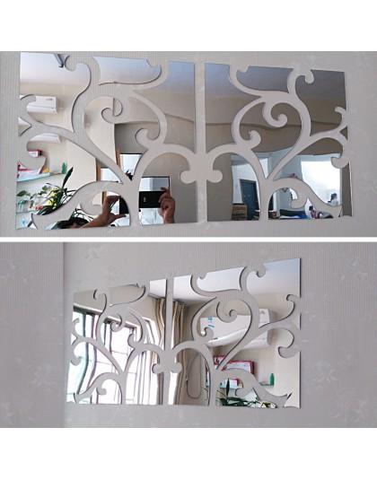 Hot big 3d naklejki ścienne dekoracyjne living home nowoczesne akrylowe wielkie lustro martwa natura powierzchnia moda diy ścian