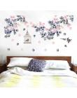 139*71cm ściana kwiatów naklejki dekoracja łóżka klatka dla ptaków Home Decor pcv DIY naklejki ścienne winylowe do sypialni TV S
