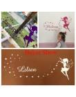 Wróżka nazwa własna ściana kalkomania mały anioł gwiazdy z nazwą Babys naklejki dla przedszkola dzieci pokój dziewczyny dekoracj