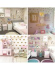 Baby Girl Room dekoracyjne naklejki złota naklejka na ścianę z sercem dla dzieci naklejka ścienna do pokoju naklejki dekoracja p